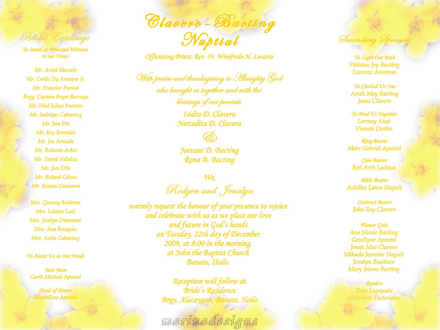 Principal sponsor wedding invitation paperinvite graphic designs mar desktop wedding invitation stopboris Gallery