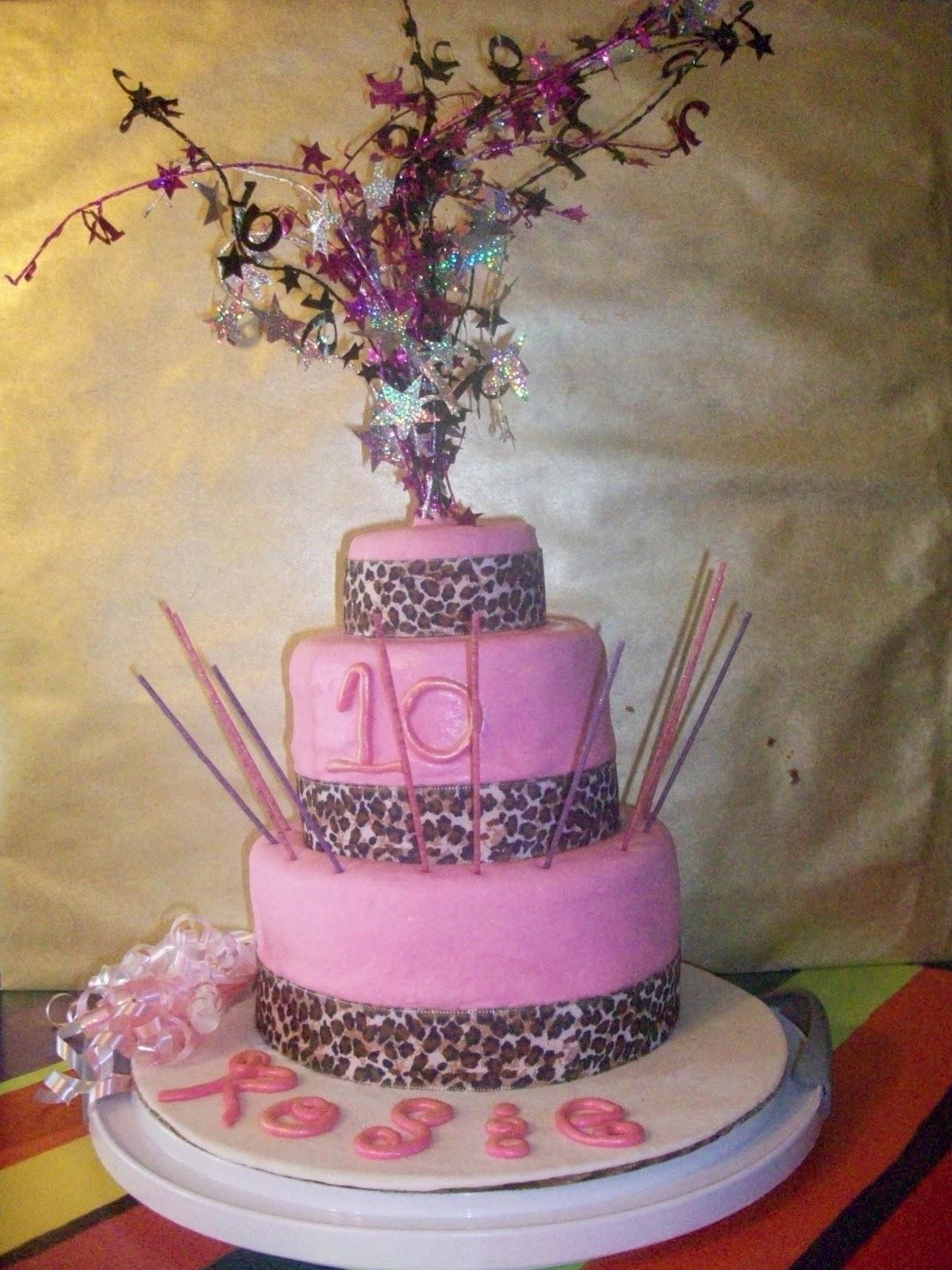 Aimee S Cakes Pink Cheetah Cake