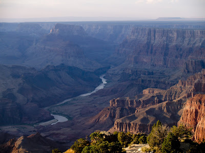 Vista del rio Colorado en el Gran Cañon