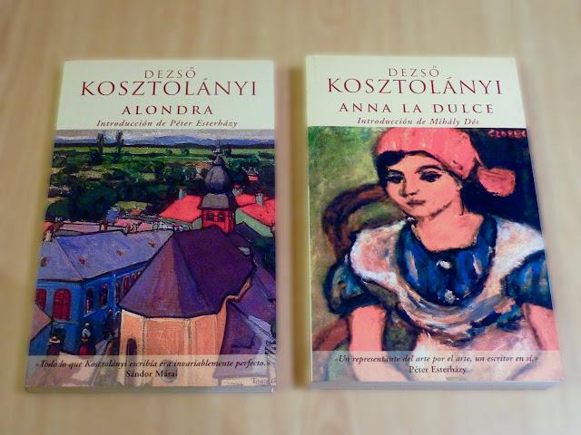 Portada de dos libros de Kosztolanyi
