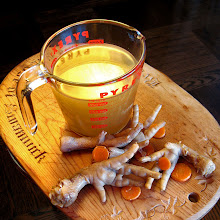 Spicy Chicken Feet and a Broth of Liquid Gold