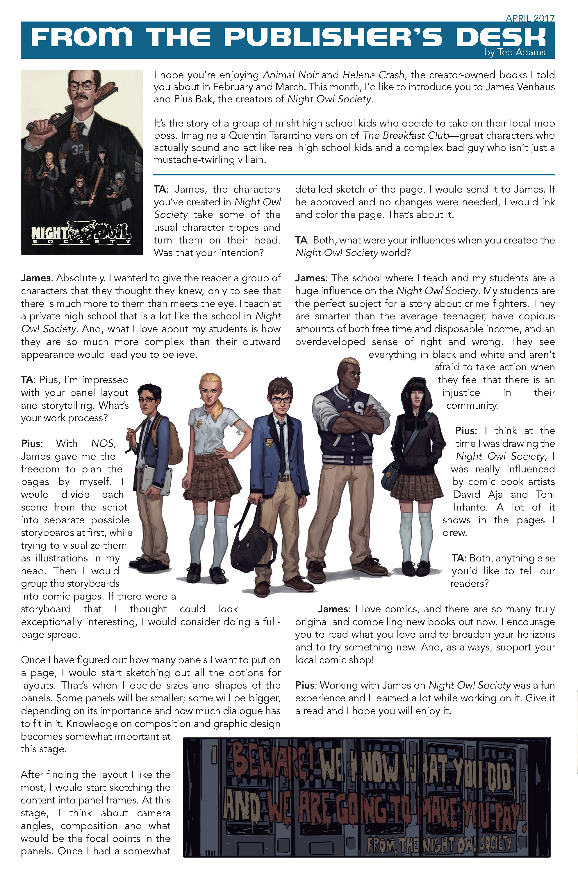 Read online Night Owl Society comic -  Issue #1 - 33