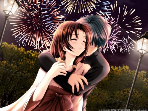 Group Of Anime Emo Couple Wallpaper