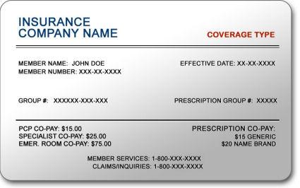 insurance card template clifornia  California Insurance: California Insurance Number