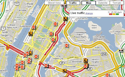 Nyc Live Traffic Map.Google Maps Shows Traffic Conditions In Major Cities Fly The World