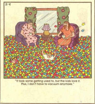 Funny comic about having a ball pit in your living room