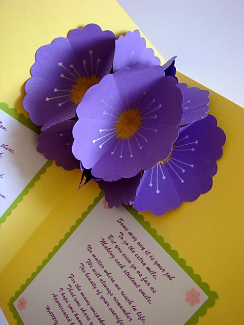 Teacher's day pop up flowers