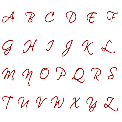 Alfabeto En Letra Cursiva