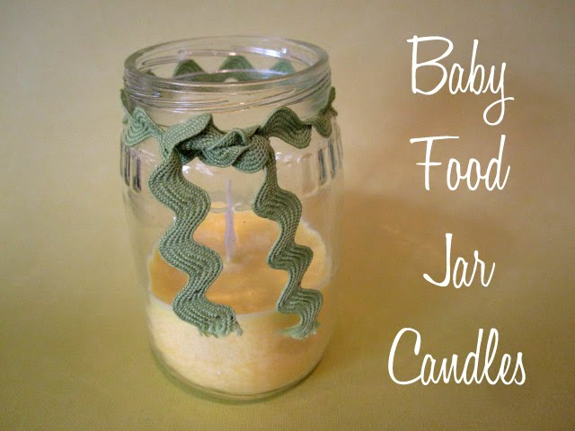 Snapsuit Decorating Baby Shower Recycled Baby Food Jar Candles