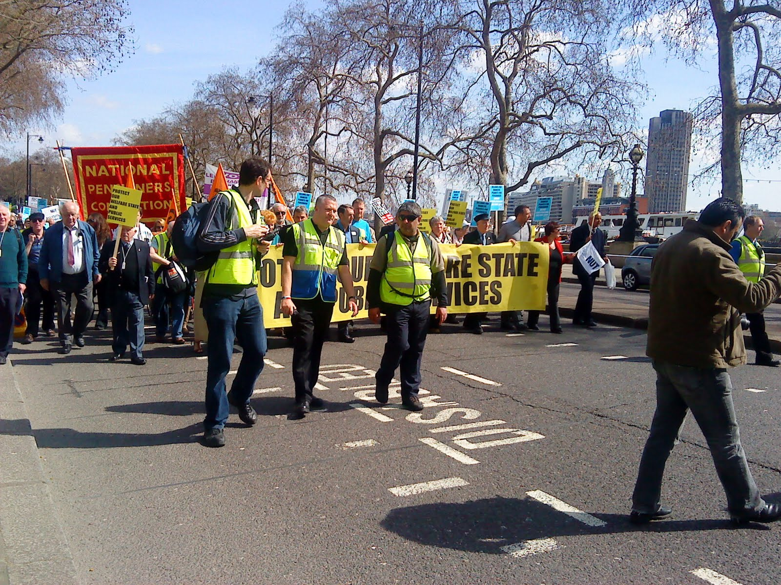 Tony Greenstein Blog: Tony Greenstein's Blog: March For Jobs, Pensions And