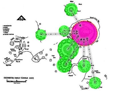 Mapa de Los Guachimontones