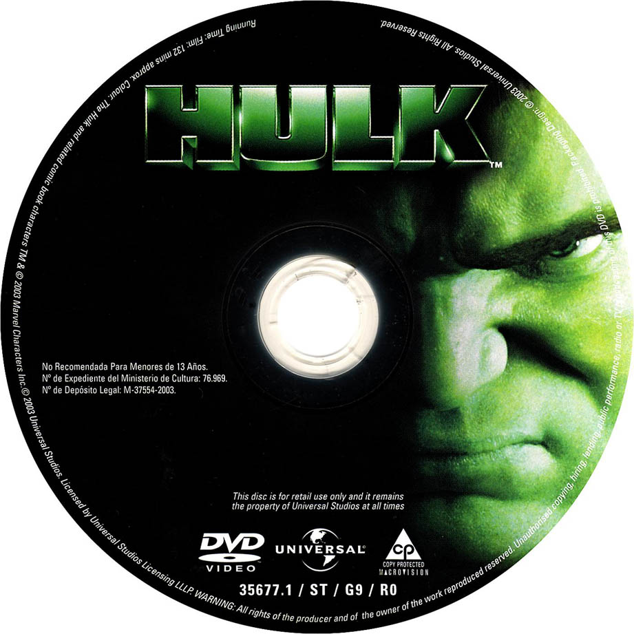 Peliculas DVD: Hulk