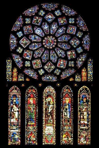 witraż katedry w Chartres