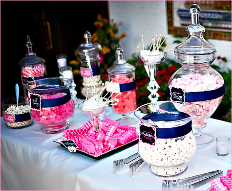 Madly Stylish Events: Sparkly Wedding Candy Buffet