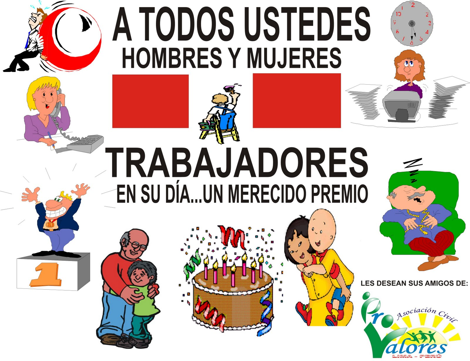 Dia Del Trabajador Mujeres asociacion civil provalores lima peru: ¡feliz dÍa del