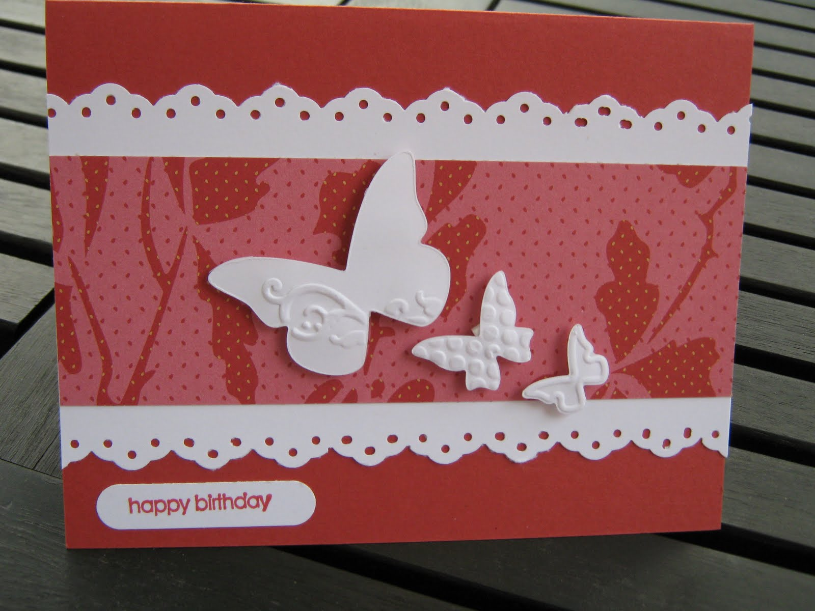 just for you  handmade greeting cards happy birthday card