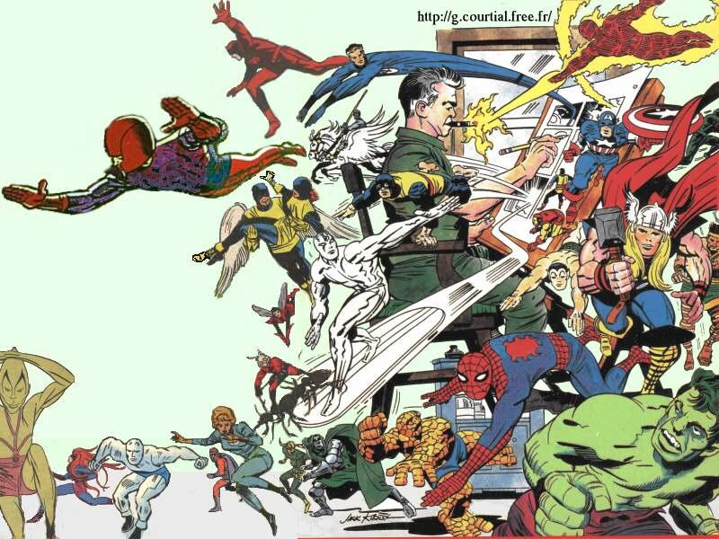 Top Ten Most Influential Comics Artists  4  Jack KirbyJack Kirby Art