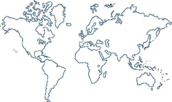 Mapa Del Mundo Para Dibujar: Colorear Y Pintar: Los Colores Misioneros