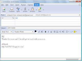 Technabled how to send auto generated replies to your emails for Auto reply email template