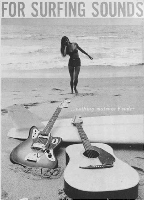 fender surf music publicité advertissement surfin estate blog surf culture