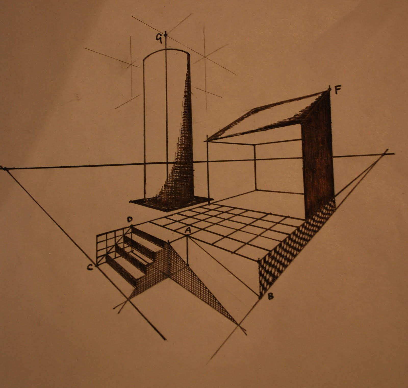 architectural communications: 3D perspective drawing