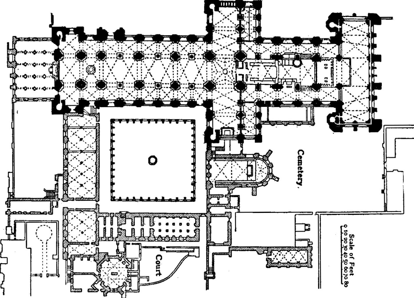 Arch Durham Cathedral Durham England 1093 Romanesque