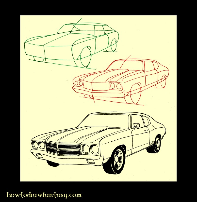 How To Draw Muscle Cars 98