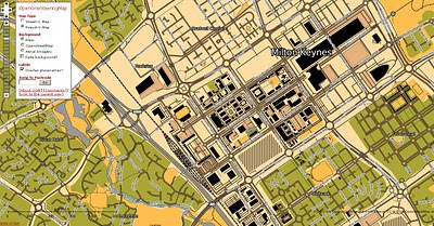 OpenOrienteeringMap Pseud-O Map Mode