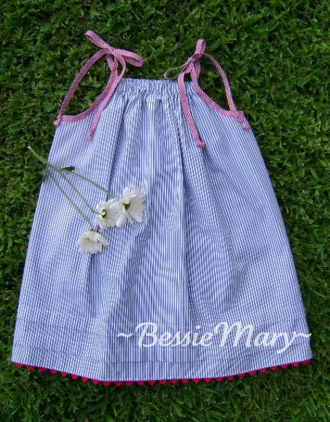 Bessiemary easy peasy breezy slightly patriotic for Armhole template for pillowcase dress