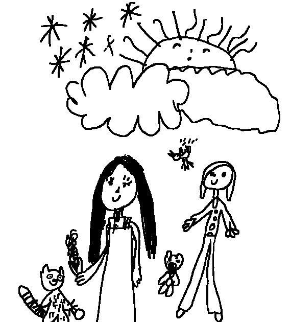 Manas E Desenhos: Desenho Infantil: POCAHONTAS Para Pintar