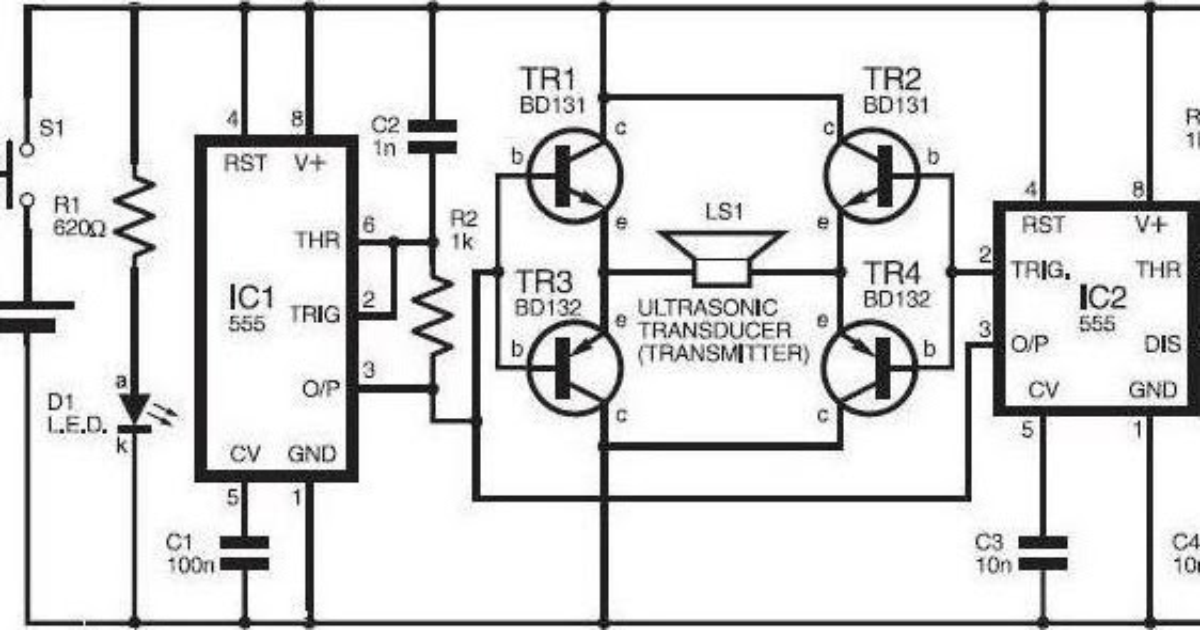 bug zapper racket circuit diagram