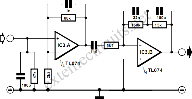 phono preamplifier circuit diagram