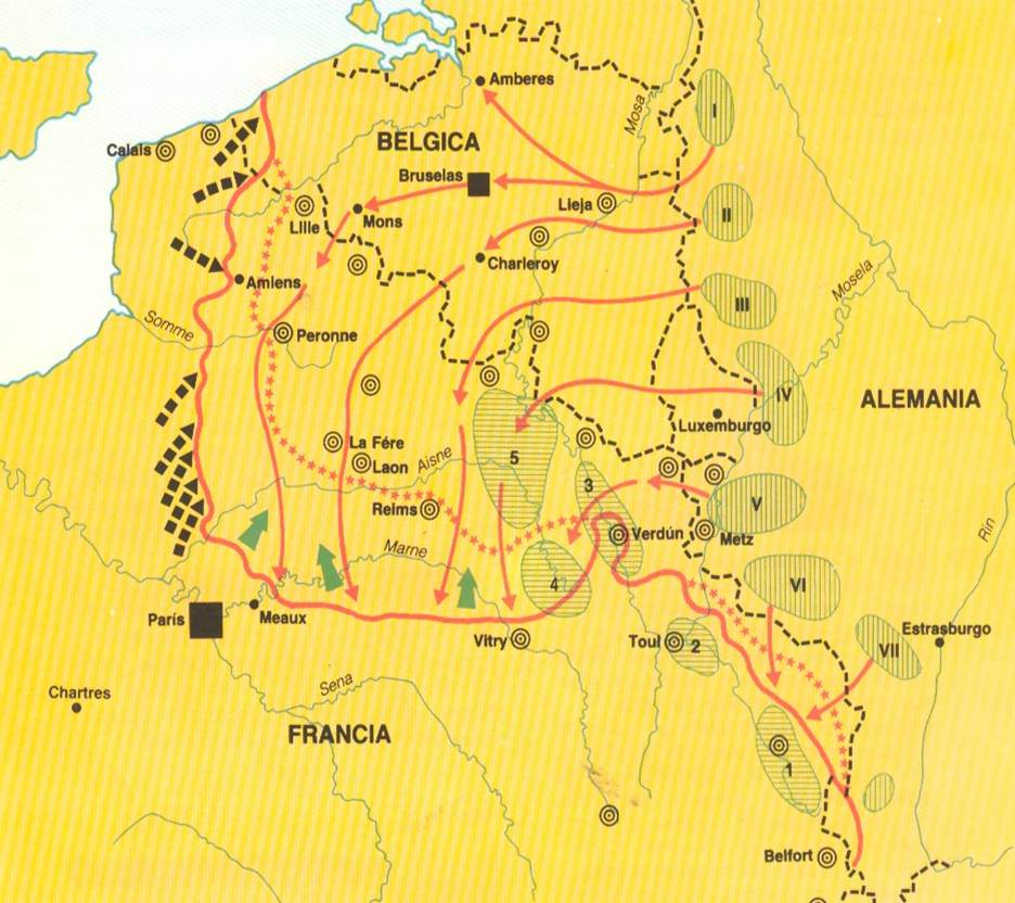 Batalla De Verdun Mapa.Blog De Historia Del Mundo Contemporaneo Primera Guerra