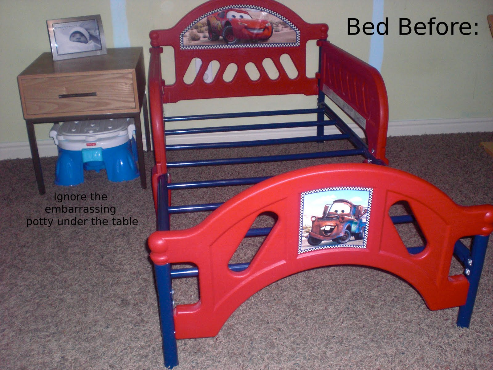 the toddler bed makeover