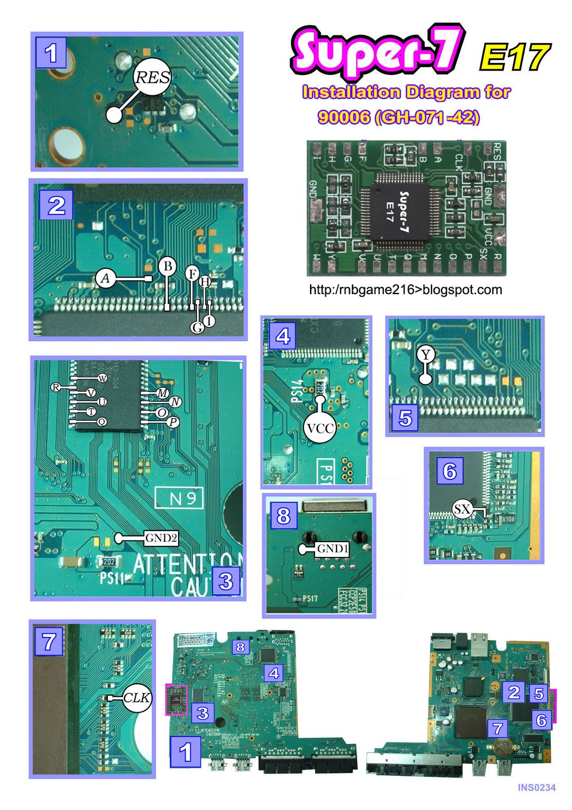 Tutorial PS2: Diagram Pemasangan IC Super 7 E17