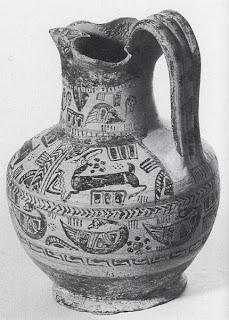 miletos seramiği klasik dönem yonca ağızlı oinokhoe