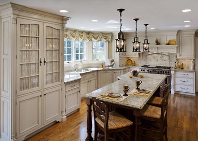 The Thrifty Gypsy: I - French Country White Kitchen Cabinets'm dreaming of a white kitchen.