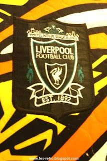 f8c2418a007 Liverpool FC Goalkeeper kit 1995 96. The Goalkeeper shirt as worn en route  to the 1996 FA CUp Final