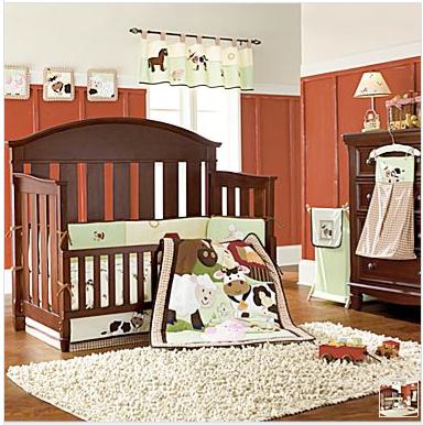 NoJo Farm Babies Crib Set Diaper Stacker Barn Animals Boy ...
