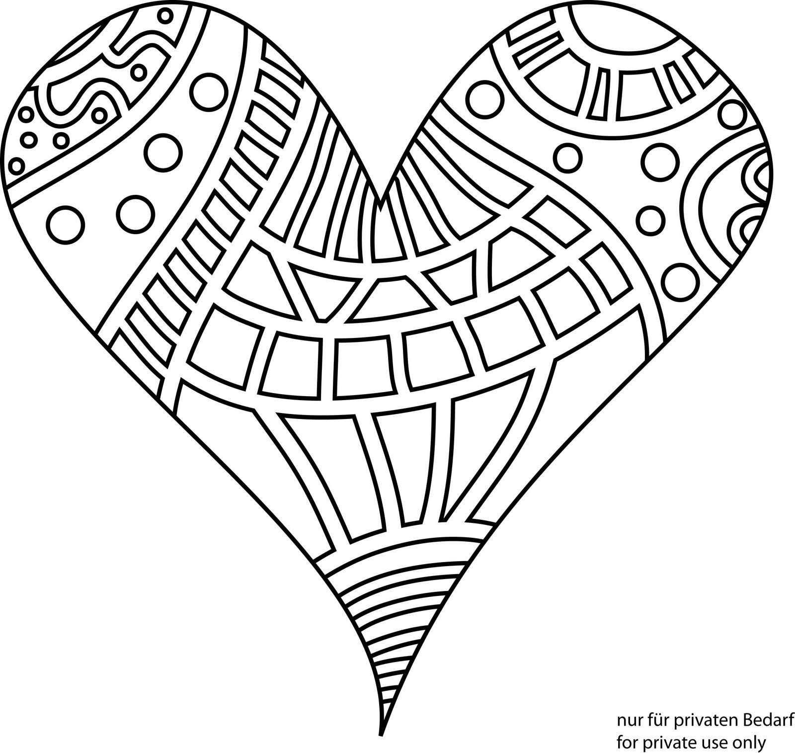 Herz Malvorlage Kinder Blog
