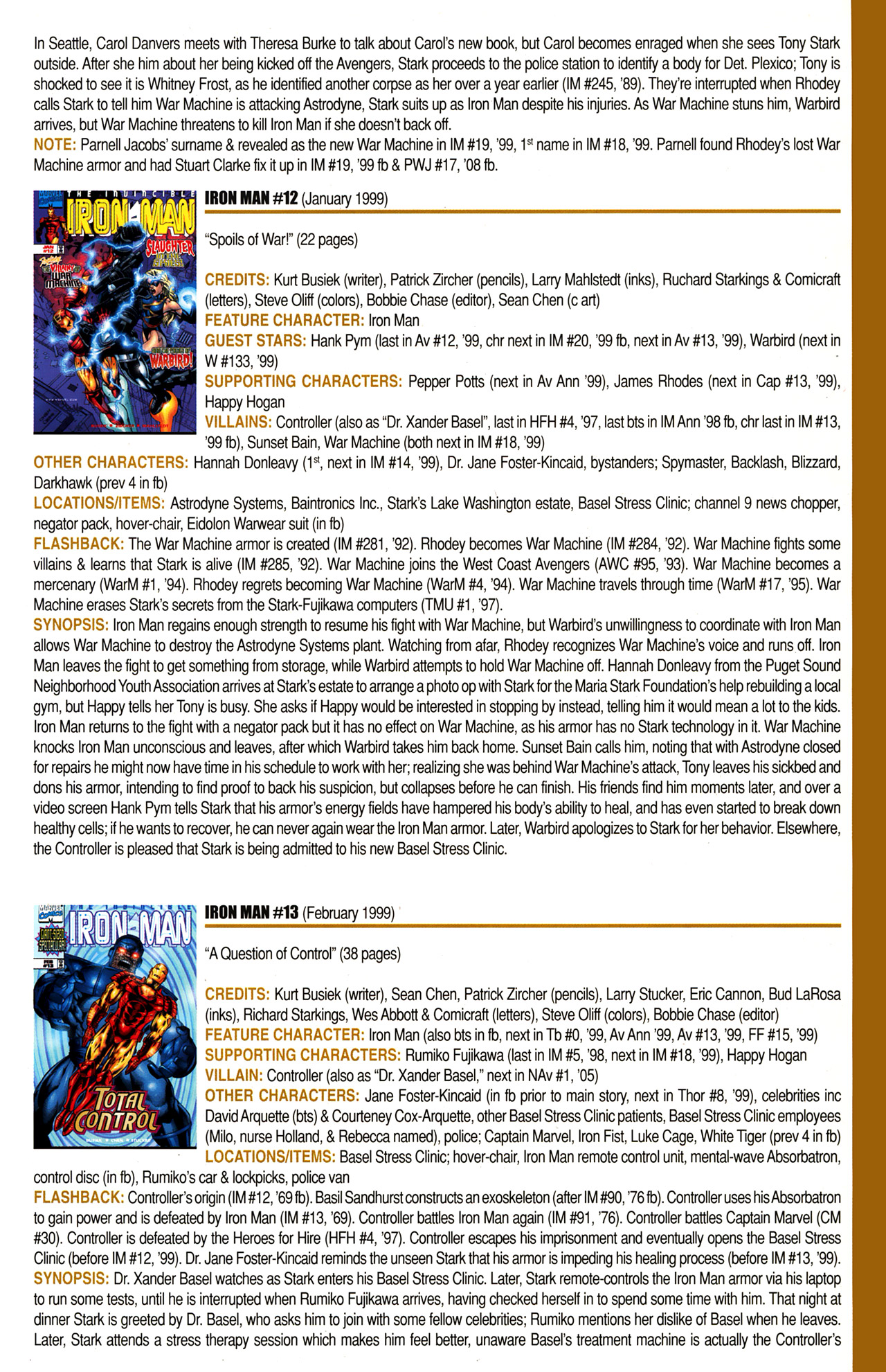 Read online Official Index to the Marvel Universe comic -  Issue #10 - 33