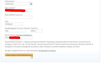 Informasi Account PayPal
