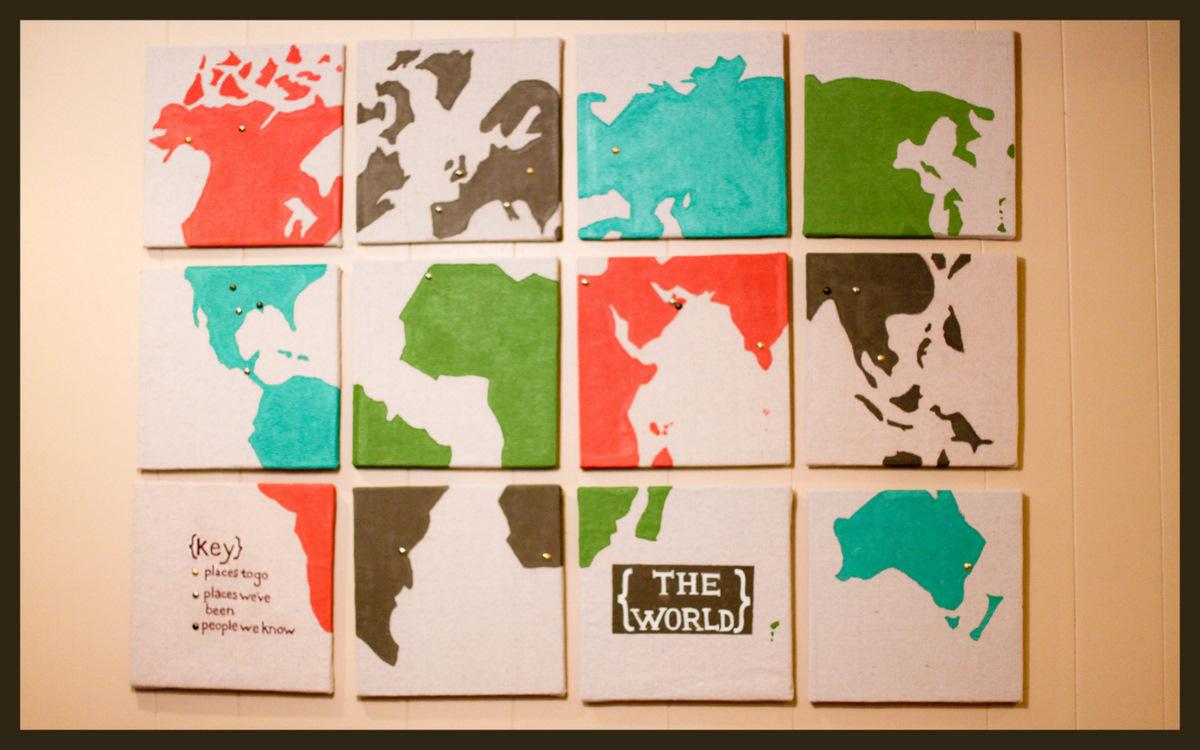 Map Wall Decor Diy: Kojotutorial- Interactive World Map