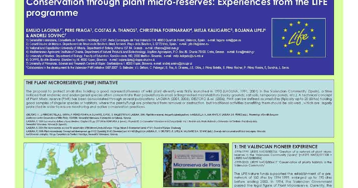 Plant Microreserves: Poster on the PMR initiative for the ...