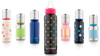 organic kidz stainless steel baby bottle