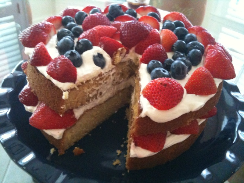 In The Mood For Strawberry Country Cake