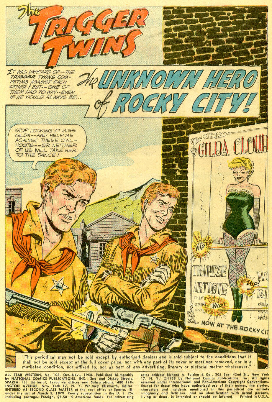 Read online All-Star Western (1951) comic -  Issue #103 - 3