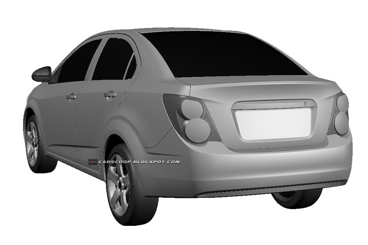 Sedan 2011 chevrolet aveo sedan : 2012 Chevrolet Aveo Sedan and Hatchback: Official Design Patents