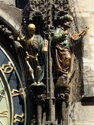 Death and the Turk of Astronomical Clock in Prague