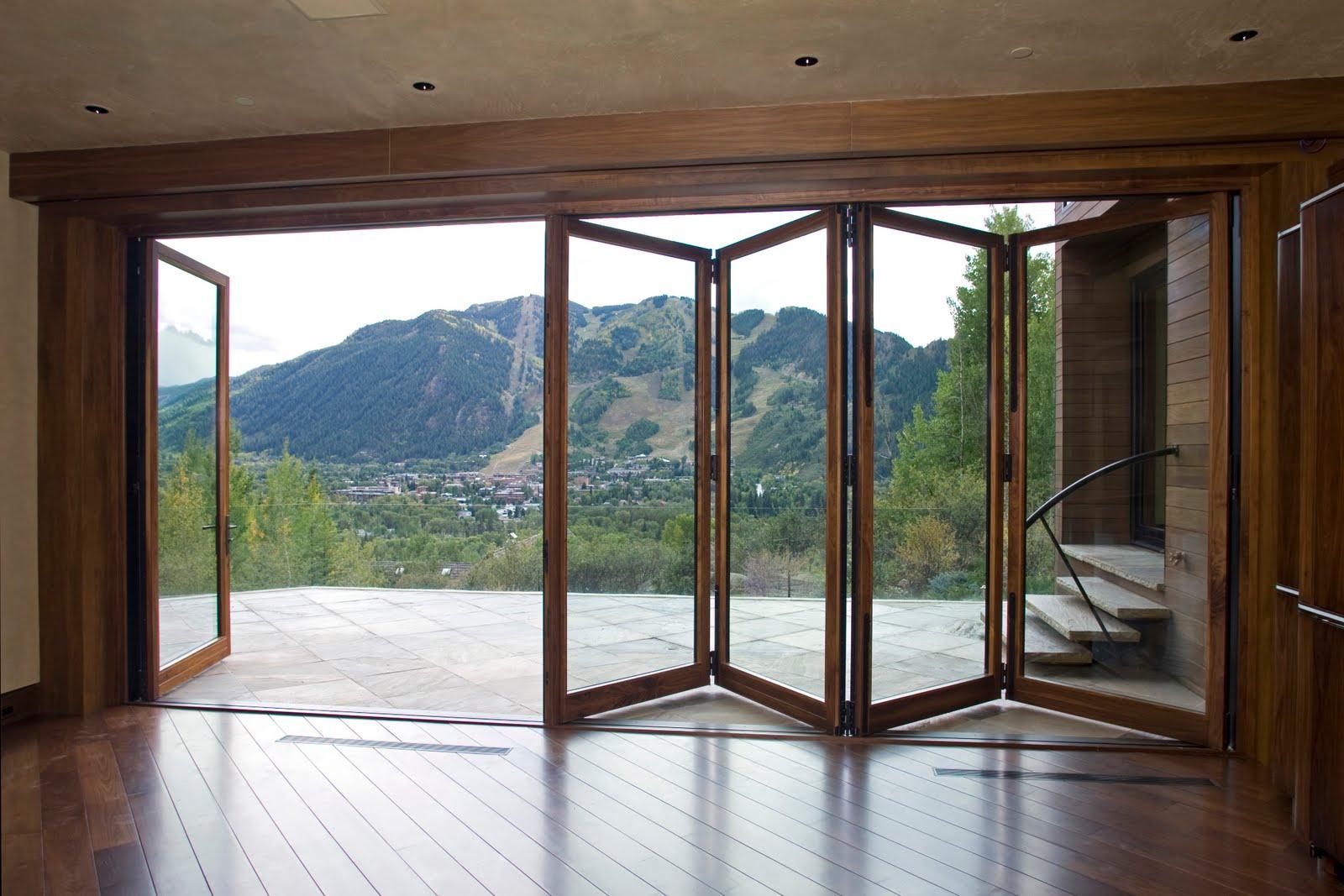 Accordion glass patio doors